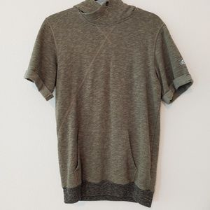 Adidas short sleeve pullover hoodie. Size small